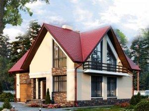 Проекты коттеджей общей площадью до 140 кв.м.