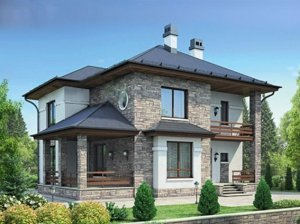 Проекты коттеджей общей площадью от 200 до 250 кв.м.