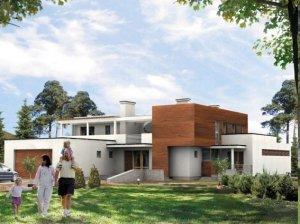 Проекты коттеджей общей площадью от 300 до 400 кв.м.