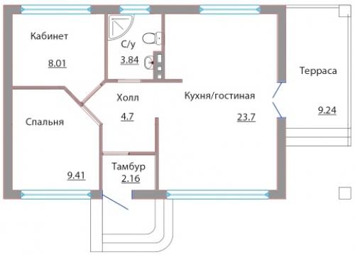 Проект дома м509