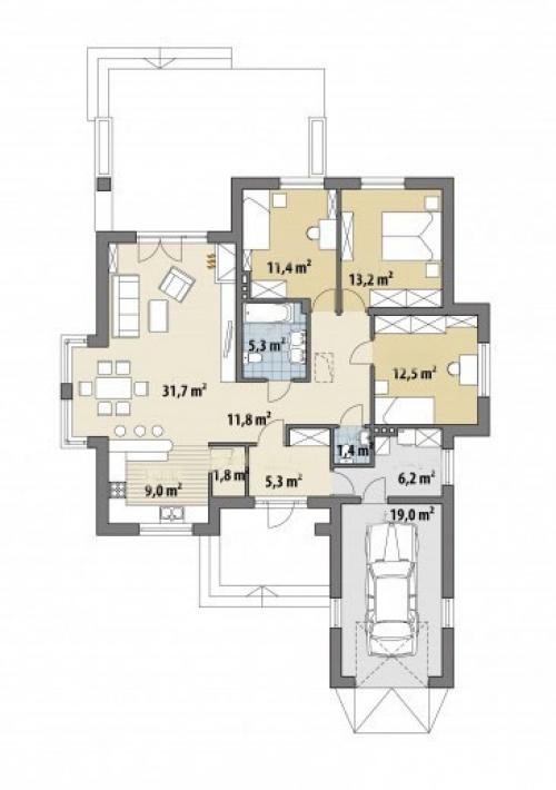 Проект дома м303