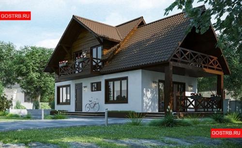 Проект дома м523