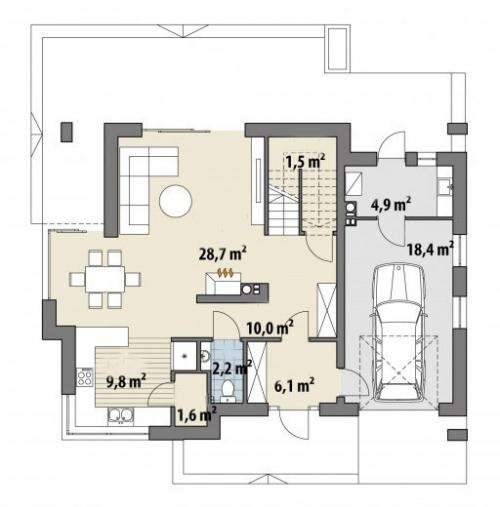 Проект дома м336
