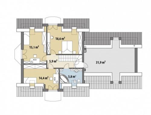 Проект дома м355