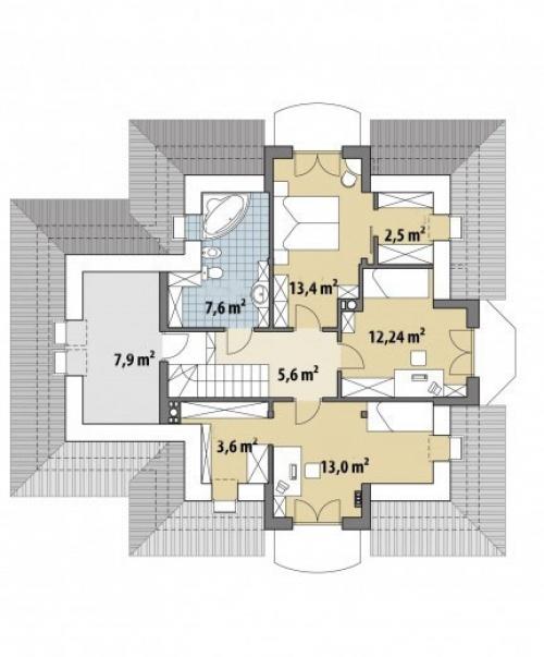 Проект дома м375