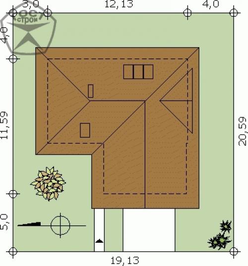 Проект дома м119