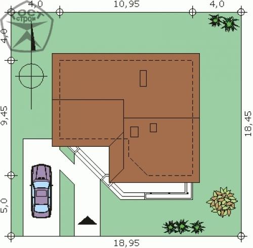 Проект дома м136
