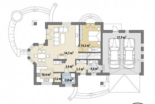 Проект дома м403