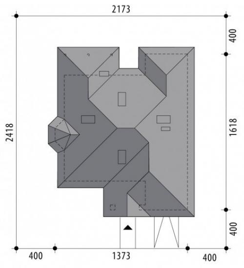 Проект дома м414