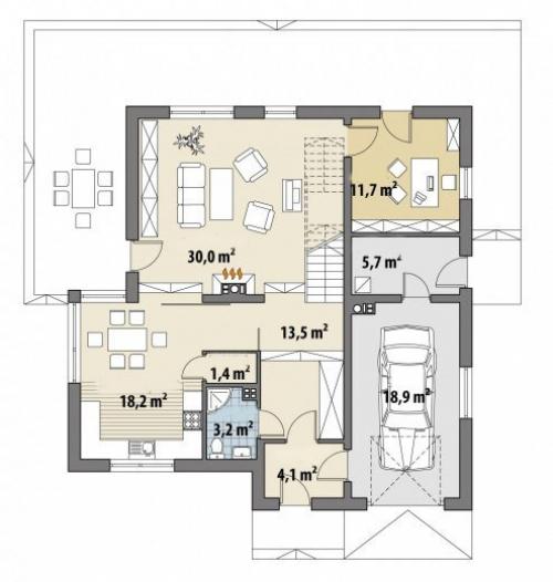 Проект дома Д423
