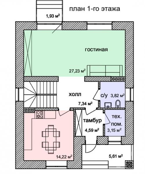Проект дома м882