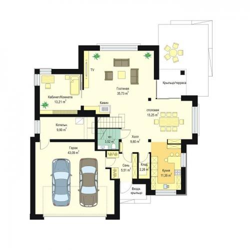 проект дома Д883