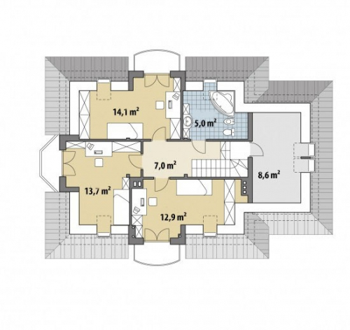 Проект дома м266