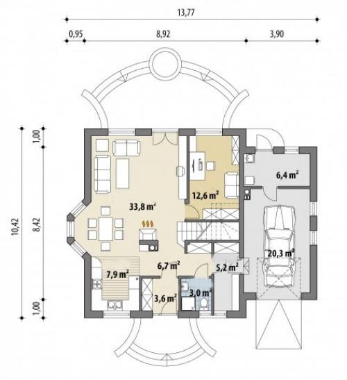 Проект дома м289