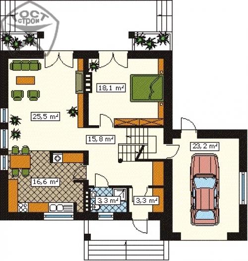План 1-го этажа