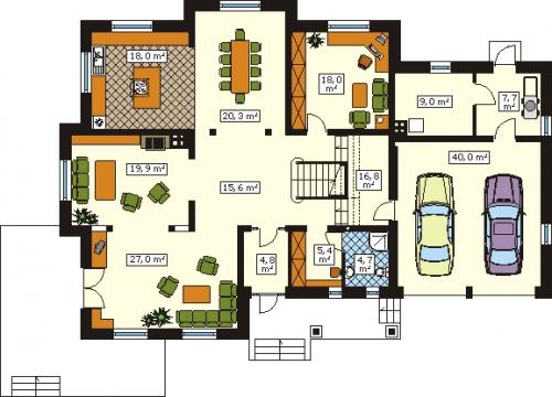 Проект дома м158