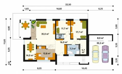 Проект дома м180