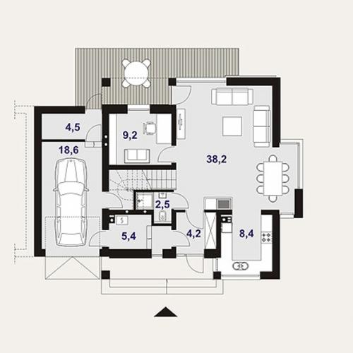 Проект дома м196