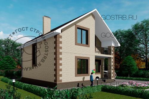 Проект дома м518