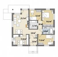 Проект дома м449