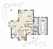 Проект дома м419
