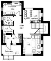 Проект дома м524
