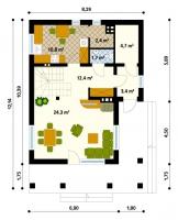 Проект дома м161