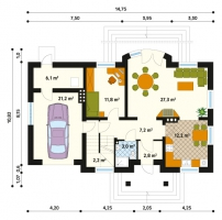 Проект дома м186