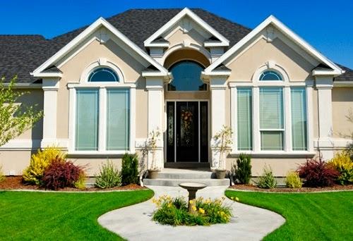 Дизайн фасадов домов одноэтажных домов
